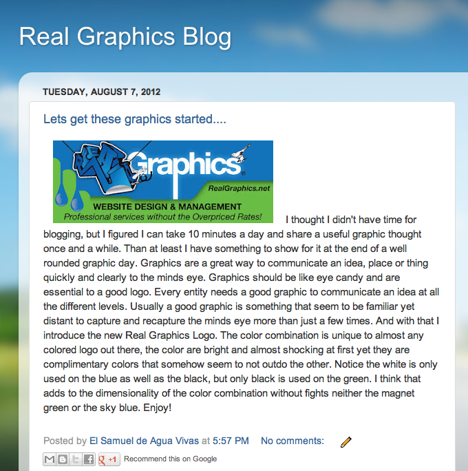 real graphics blog